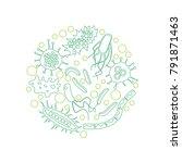 bacterial microorganism in a... | Shutterstock . vector #791871463