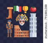 Italian Culture. Pixel Art...