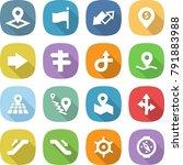 flat vector icon set   pointer... | Shutterstock .eps vector #791883988