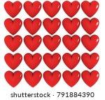 heart shape red | Shutterstock . vector #791884390