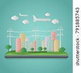 modern  of urban landscape.... | Shutterstock .eps vector #791885743