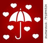 love umbrella glyph icon ... | Shutterstock .eps vector #791894524
