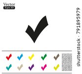 check mark  tick  yes  vote... | Shutterstock .eps vector #791895979