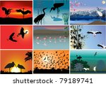 set of composition with long... | Shutterstock .eps vector #79189741