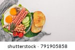 english breakfast tomatoes ... | Shutterstock . vector #791905858