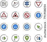 line vector icon set   elevator ... | Shutterstock .eps vector #791908054