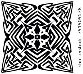 abstract vector black and white ... | Shutterstock .eps vector #791909578