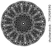 abstract vector black and white ... | Shutterstock .eps vector #791909590