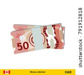 50 canadian dollar banknote.... | Shutterstock .eps vector #791912818