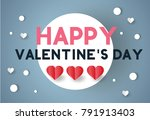 valentine's day concept.love... | Shutterstock .eps vector #791913403
