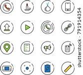 line vector icon set   phone... | Shutterstock .eps vector #791914354