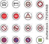 line vector icon set   airport... | Shutterstock .eps vector #791914468