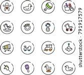 line vector icon set   baby... | Shutterstock .eps vector #791917579