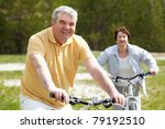 portrait of happy mature man on ... | Shutterstock . vector #79192510