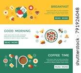 digital vector breakfast meal... | Shutterstock .eps vector #791926048