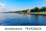 Small photo of Onega quay of the city of Petrozavodsk. Karelia, Russia.