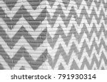 zigzag gray and white wall... | Shutterstock . vector #791930314