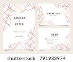 luxury wedding invitation set... | Shutterstock .eps vector #791933974
