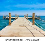 pier in heavenly blue place | Shutterstock . vector #79193635