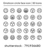 emoticon circle face line icon... | Shutterstock .eps vector #791936680