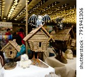 decorative handmade huts on... | Shutterstock . vector #791941306