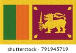 sri lanka flag. vector image of ... | Shutterstock .eps vector #791945719