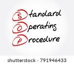 sop   standard operating... | Shutterstock .eps vector #791946433