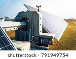 solar tracking system at solar... | Shutterstock . vector #791949754