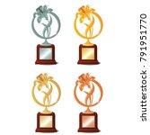 set of four awards for winning... | Shutterstock .eps vector #791951770