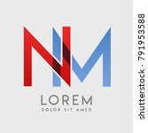"""nm logo letters with """"blue and... 