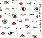 seamless hand drawn pattern of...   Shutterstock .eps vector #791957569