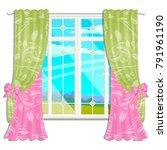 the window overlooking the... | Shutterstock .eps vector #791961190