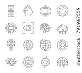 artificial intelligence icon... | Shutterstock .eps vector #791967559