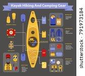 rafting and kayaking hike... | Shutterstock . vector #791973184