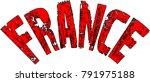 france text sign illustration...   Shutterstock .eps vector #791975188