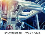 equipment  cables and piping as ... | Shutterstock . vector #791977336