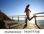 Sporty Female Jogger Morning...