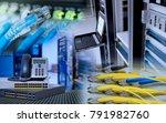 network device for data center... | Shutterstock . vector #791982760