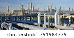 refinery for the production of... | Shutterstock . vector #791984779