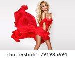 beautiful  sexy  elegant blonde ...   Shutterstock . vector #791985694
