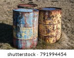 old rusty abandoned grunge fuel ...