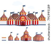 circus tent cartoon vector... | Shutterstock .eps vector #791995189