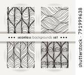 decorative vector seamless set... | Shutterstock .eps vector #791999638