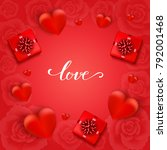 valentines day background with... | Shutterstock .eps vector #792001468