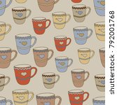 seamless pattern with multi...   Shutterstock .eps vector #792001768