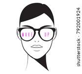 makeup artist logo. makeup ... | Shutterstock .eps vector #792001924