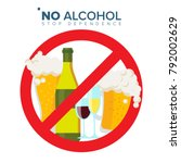 No Alcohol Sign Vector. Strike...
