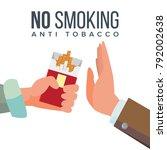 no smoking concept vector. anti ... | Shutterstock .eps vector #792002638
