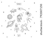 hand drawn vector space...   Shutterstock .eps vector #792007150