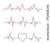 heartbeat line isolated on... | Shutterstock .eps vector #792008146